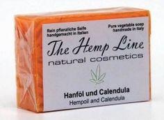 Hanf-Seife aus Hanföl und Calendula - The Hemp Line - natural cosmetics #hanf #hemp #eco #bio #organic