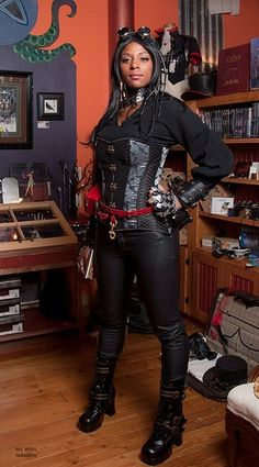 In honored of Black History month ill be featuring more black steampunk cosplayers