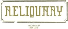 Reliquary Font