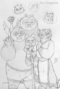 Family of po and tigress by AniDragmire.deviantart.com on @DeviantArt