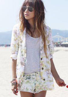 Floral short suit