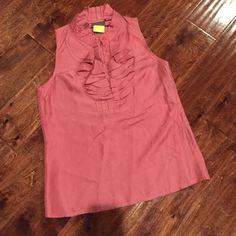 Kenar blouse Kenar 100% silk blouse. Mauve pink color. Size small. Kenar Tops Blouses