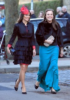 Pippa Middleton. Katie Percy and Patrick Valentine wedding at St Michael's Church in Alnwick, Northumberland on February 26, 2011