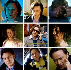 James McAvoy as Charles Xavier in First Class, Days of Future Past and Apocalypse