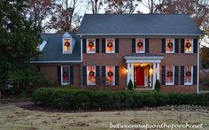 """How to hang wreaths on your windows. Love this look!!  Practical tutorial from """"Between Naps on the Porch"""""""