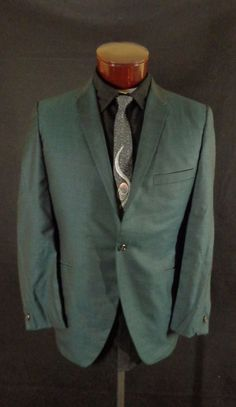 Vintage Men's GGG Clothes Green Shark Skin Style Tux/Blazer Jacket - 46 #GGGClothes #Doyoureallyneedone