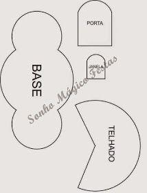 Eu Amo Artesanato: Castelo com molde Ben E Holly, Felt Patterns, Cute Little Things, Diy Projects, Place Card Holders, Symbols, Letters, Card Crafts, Peppa Pig