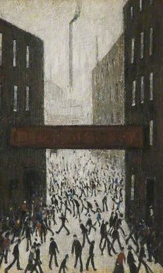 Laurence Stephen Lowry (Angleterre, – Mill Scene The Lowry, Manchester Manchester Art, Art Eras, Spencer, English Artists, Paving Stones, Gcse Art, Urban Life, Art Uk, Pointillism