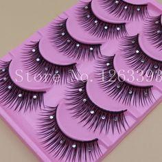 3Q 1 Box 5 Paar Falsche Wimpern Acryl Kristall Art Natürliche länge lange gefälschte wimpern dicke falschen wimpern beauty make-up tipps