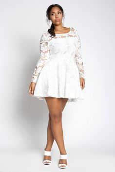 white plus size dresses 07 #plus #plussize #curvy | Plus Size ...