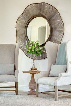 desire to inspire - desiretoinspire.net - MetaInteriors.  Adore this mirror!