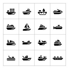 Set icons of water transport. Travel Infographics. $5.00
