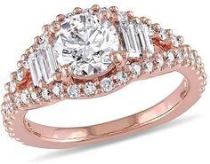 Julie Leah 1 2/3 CT TDW Diamond 14K Rose Gold Engagement Ring, IGL Certified ($11,963)