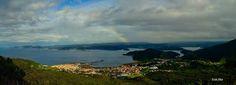 GALICIA  -ESPAÑA  ( La Coruña).  Ortegal / Panoramica de los Pueblos de Cariño con Espasante y al fondo se divisa la Estaca de Bares.