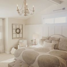 """Oh the glow of that late afternoon sun.😍(tap photo for sources) Wall color: Valspar """"Coconut Milk"""" Room Wall Colors, Bathroom Paint Colors, Bedroom Colors, Bedroom Decor, Bedroom Ideas, Master Bedroom, Best Paint Colors, Paint Colors For Home, Valspar Bedroom"""