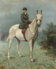 Alice Mary Darby (1852–1931), Mrs Francis Alexander Wolryche-Whitmore, on Horseback, 1906 by Evelyn Blacklock