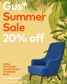 Everyone can use a new arm chair, and our Hilary Chair is just too comfortable to pass up. Our Gus* Summer Sale is happening now, with savings on sofas, sectionals, accent chairs and more. Sectional Sofa, Sofas, Chair And Ottoman, Summer Sale, Scandinavian Style, Outdoor Chairs, Accent Chairs, Arm, Modern