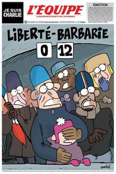 The powerful homage to Charlie Hebdo from the world of sports it ridiculed The World Newspaper, Newspaper Front Pages, Newspaper Cover, The New Yorker, Caricatures, Satire, Tragic Comedy, Paris Terror Attack, Charlie Hebdo