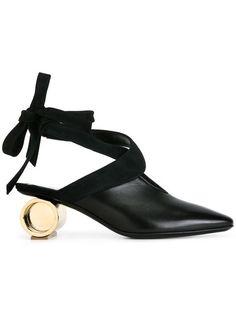 Shop J.W.Anderson metallic heel pumps.