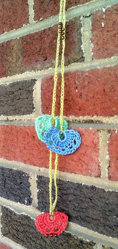 Crochet Pendant Layering Necklace by BrownFinches on Etsy, $12.00