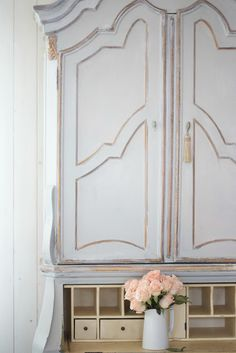 Painted cupboard Makeover - French Country Friday -    Do you remember that time I shared that I had stayed up late watching Sherlock...   and the cliff hanger left me wondering like things t...
