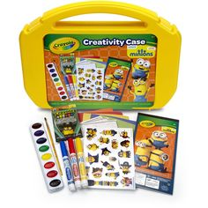 ultimate art case with markers paint crayons coloring pages and stickers for 5
