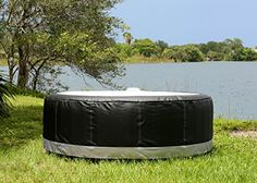 TheraPureSpa EST5881 Round Leather Spa Black