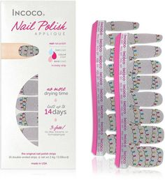 Happy Holidays Nails. Quick, Easy, No Mess, No Dry Time. You just need a file. #aff