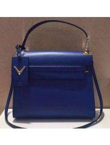 Valentino Single Handle Bag In Blue Calfskin 2015