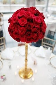rose and carnation centerpieces