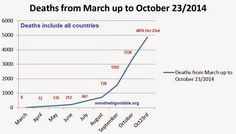 """The Big Wobble Almanac : Ebola outbreak in numbers: Cases pass 10,000, WHO ... On March 14th 2014 what was thought to be a new disease was reported in district of Macenta in Guinea, killing 8 people with several others contaminated.  Symptoms """"manifested by anal and nasal bleeding."""" Seemed at the time to resemble Lassa Fever."""