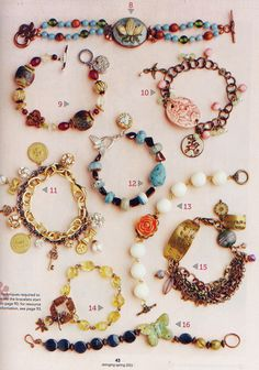 Stamped Bracelet (lower right #15) by Toni McCarthy:  Stringing Spring 2011