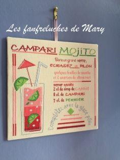 Cocktail : campari mojito (fm1707a - grille point de croix en pdf)