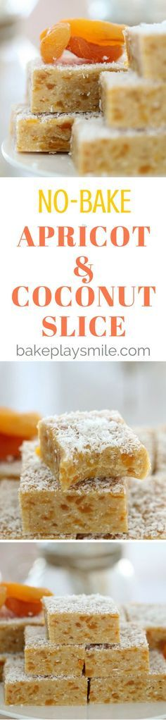 Want a Thermomix Apricot Coconut Slice that is completely no-bake, takes just 5 minutes to prepare and is absolutely delicious? This is THE recipe for you! No Bake Treats, Yummy Treats, Sweet Treats, Yummy Food, Baking Recipes, Dessert Recipes, Desserts, No Bake Slices, Biscuits