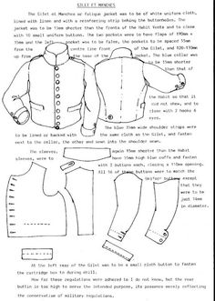 Period uniform patterns - Armchair General and HistoryNet >> The Best Forums in History French Gillet again around 1812 from the Bardin regulations I think, a kind of stable jacket used by both cavalry and infantry in variying colours,