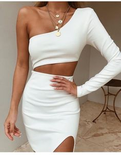 2019 New Summer Women One Shoulder Bandage Dress Celebrity Evening Party Dress Sexy Hollow Out Bodycon Club Dress Vestidos 2019 New Summer Women One Shoulder Bandage Kleid Promi Abend Par - Luxuriöses Leben fürs Leben Club Dresses, Sexy Dresses, Fashion Dresses, Clubbing Dresses, Vegas Dresses, Short Dresses, Mini Dresses, Elegant Dresses, Prom Dresses