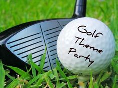 Golf Party activities for adults and a version for kid activities as well - sand trap (sand box to find buried balls), decorate your own ball/visor, golf ball toss, etc.