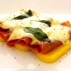 Grilled Polenta with Sage, Parma Ham and Melted Fontina Cheese Recipe on Yummly. @yummly #recipe