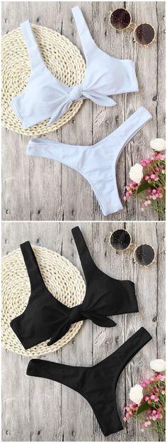 Up to 80% OFF! Padded Knotted Thong Bikini. #Zaful #Swimwear #Bikinis zaful,zaful outfits,zaful dresses,spring outfits,summer dresses,Valentine's Day,valentines day ideas,cute,casual,fashion,style,bathing suit,swimsuits,one pieces,swimwear,bikini set,bikini,one piece swimwear,beach outfit,swimwear cover ups,high waisted swimsuit,tankini,high cut one piece swimsuit,high waisted swimsuit,swimwear modest,swimsuit modest,cover ups,swimsuit cover up @zaful Extra 10% OFF Code:ZF2017