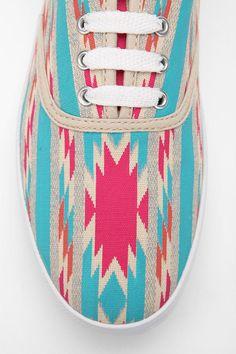 8db336691e19 Red Blanket Ikat Plimsoll Sneaker