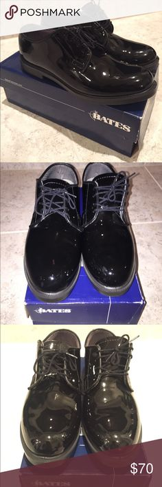 5db00c0e2c7f49 Bates High Gloss Oxfords Bates High Glass Durashock Oxfords. Size 8.5.  These shoes fit