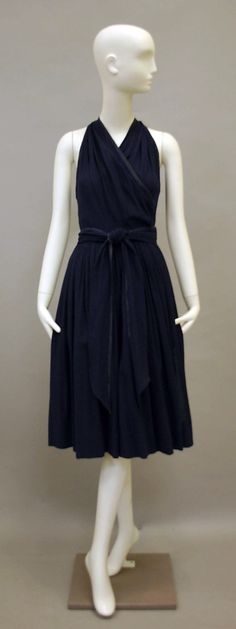 Dress  Claire McCardell  (American, 1905–1958)  Manufacturer: Townley Frocks (American) Date: 1948 Culture: American Medium: silk Dimensions: Length at CB: 49 in. (124.5 cm) Credit Line: Gift of Kohle Yohannan, 2010