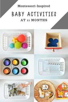 A mix of fine motor, gross motor, language activities, and more! These are the activities that were a hit at 11 months! Source by valuemindedmama 10 Month Old Baby Activities, Toddler Learning Activities, Baby Learning, Language Activities, Infant Activities, Couture Montessori, Diy Montessori Toys, Montessori Toddler, Montessori 12 Months