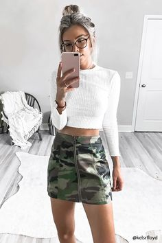 96f4f1cd55a Love the camouflage skirt | hotties 2.0 | Fashion, Fashion dresses ...