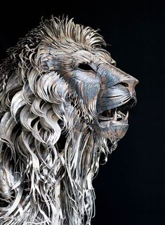 "Turkish artist Selçuk Yılmaz has created an exceptional lion sculpture from almost 4,000 pieces of scrap metal. Titled Aslan (Turkish for Lion), the sculpture took 10 months to complete and weighs roughly 550 pounds (250kg). Selçuk hand-cut and hammered every piece by himself, and metal-work is not easy. ""It needs  patience and we have to know pain,"" said the artist on DeviantArt."