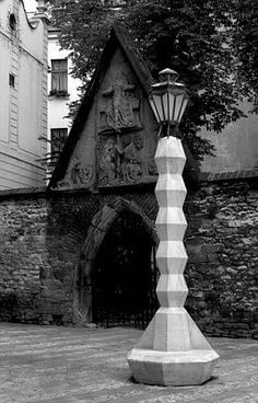 Cubist streetlamp by Emil Kralicek and Matej Blecha, Prague