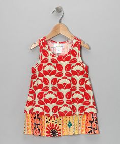 Take a look at this Red Layered Tunic - Infant, Toddler & Girls by Right Bank Babies on #zulily today!