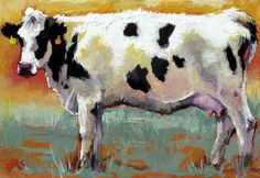 Cow Art Cow Painting Cow Print From Original Oil by JemmasGems