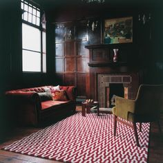 Ponti Red by Suzanne Sharp for The Rug Company