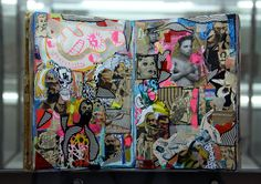 shinro ohtake artist | collaged pages of one of shinro ohtake's scrapbooks